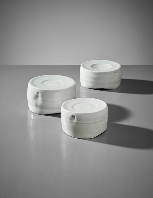 Edmund de Waal, 'Set of three pots', ca. 2004, Phillips