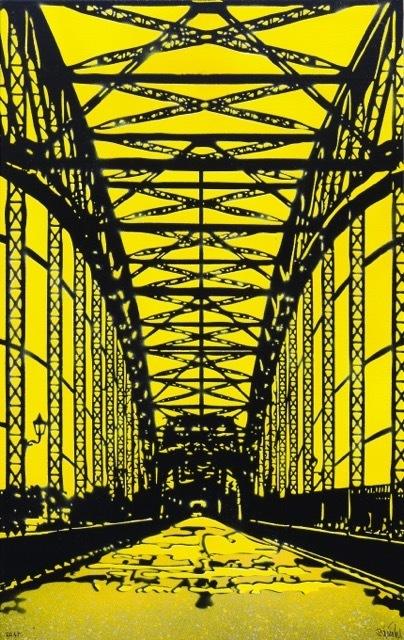 Bananensprayer Thomas Baumgärtel, 'Brücke 7', 2017, Galerie Kronsbein