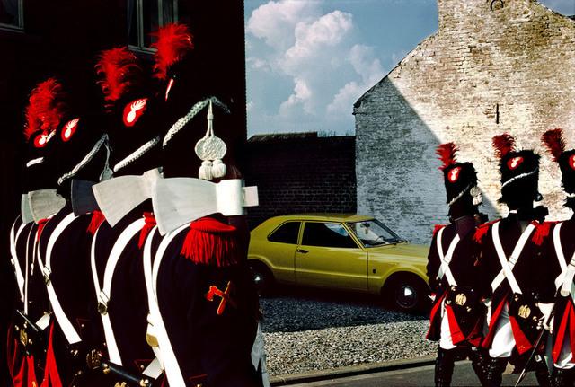 Harry Gruyaert, 'Commemoration of the Battle of Waterloo. Village in the Province of Brabant. BELGIUM. ', 1981, Magnum Photos