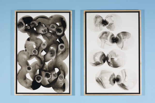 , 'Kissing Donuts (diptych),' 2015-2016, Nina Johnson