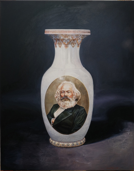 , 'Vase with Karl Marx (USSR 1953), red,' 2017, Templon