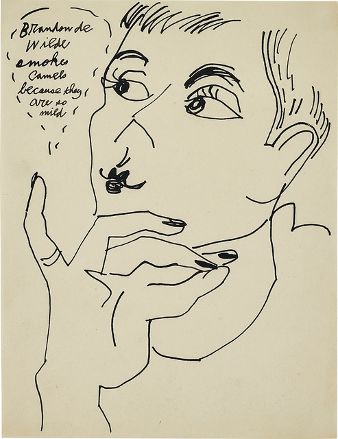 Andy Warhol, 'Brandon de Wilde Smokes Camels because they are so Mild', circa 1950's, Phillips
