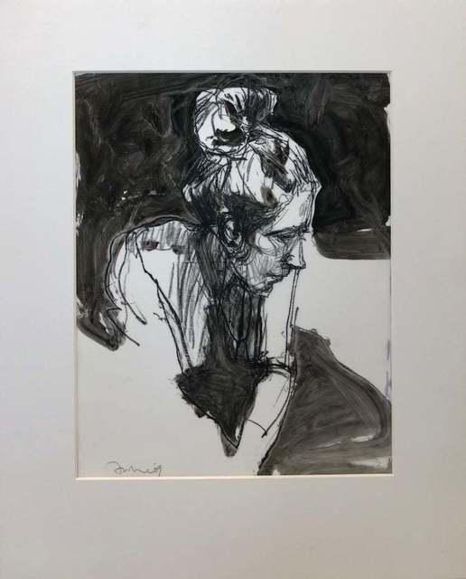 , 'Motherhood Ahead / head portrait drawing: ink, pencil, watercolor monochrome,' 2009, Andra Norris Gallery
