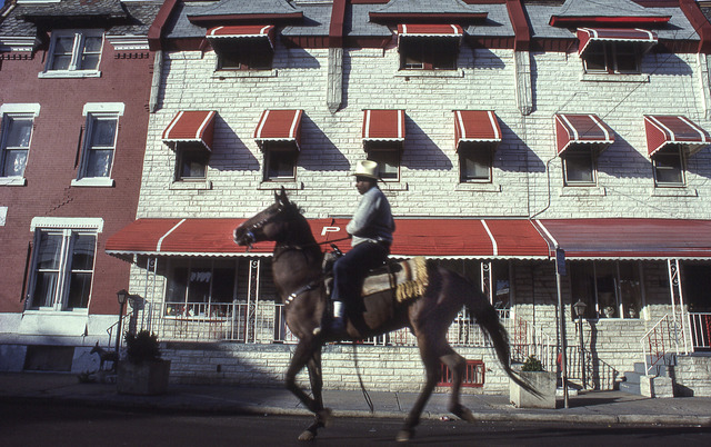 , 'A Ride by North Philly Rows,' 1993, The Studio Museum in Harlem