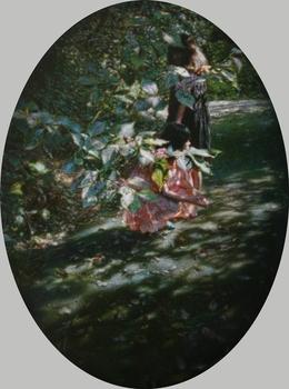 , 'Hibiscus Mutabilis and Swallowtail Butterfly僅僅記得那年夏天的芙蓉花與燕尾蝶,'  2013, Galerie du Monde