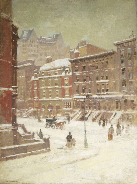 Paul Cornoyer, 'New York City View in Winter ', Questroyal Fine Art
