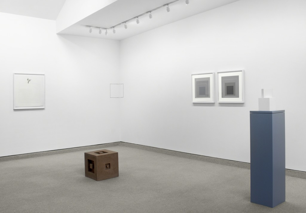 From left to right  Liliana Porter, Erwin Heerich, Fred Sandback, Josef Albers and Sol LeWitt.
