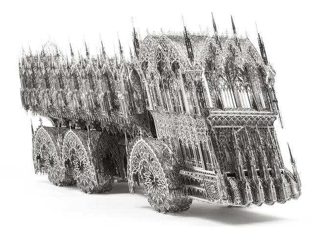 , 'Slanted Dump Truck Scale Model,' 2012, Gary Tatintsian Gallery