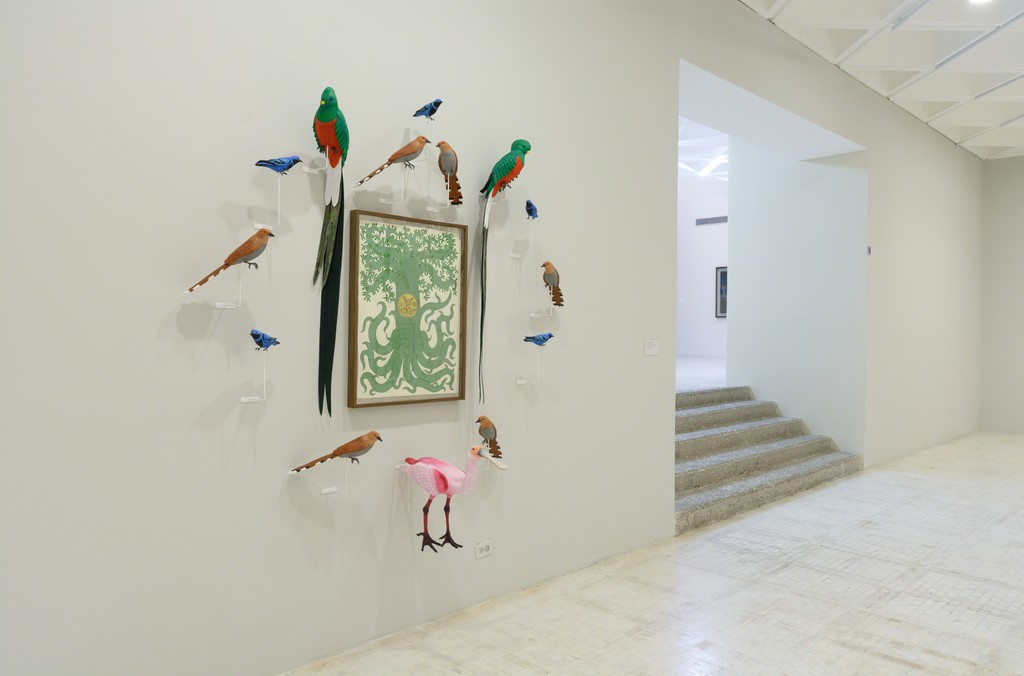 "Installation view of ""Special Project: Eduardo Sarabia. Celebrations and Other Feathered Serpent"" at Museo Tamayo, Mexico City (2016). © Paolo Montalvo. Courtesy of Museo Tamayo"