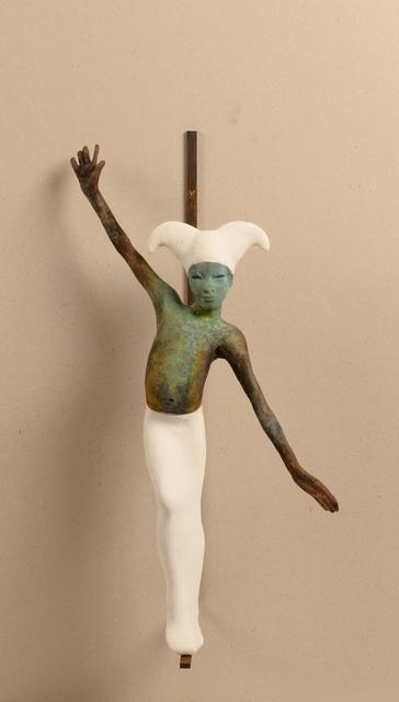 Jesús Curiá, 'White arlequin II', 2019, Sculpture, Bronze, Anquins Galeria