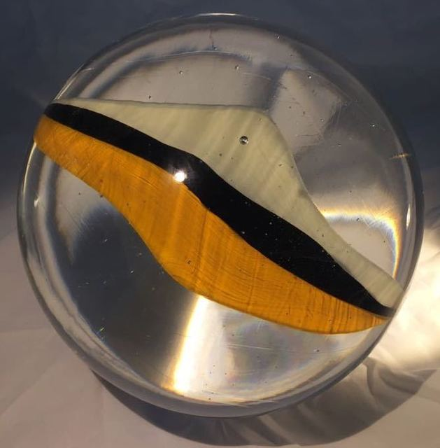 , 'Glass marble Nr. 84, crown yellow, black, ivory,' 2017, OSME Gallery