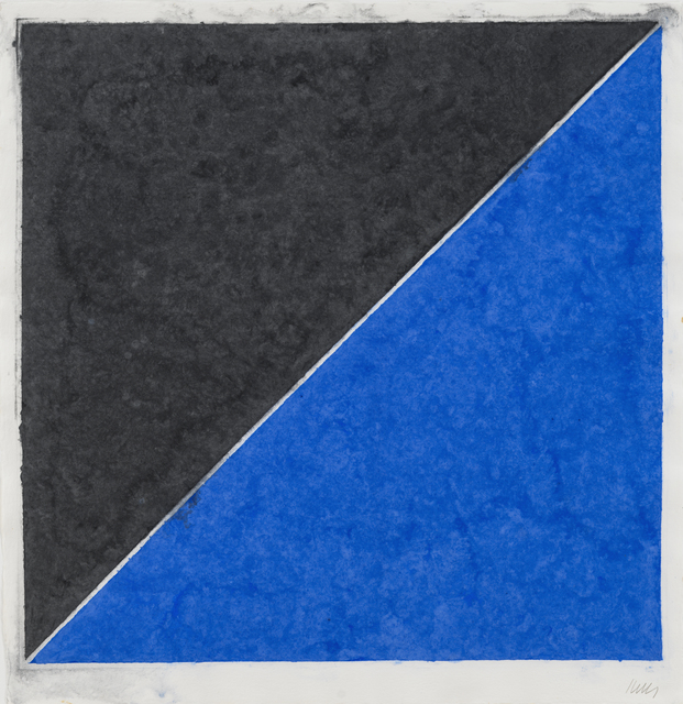 , 'Colored Paper Image XV (Dark Gray with Blue),' 1976, Susan Sheehan Gallery