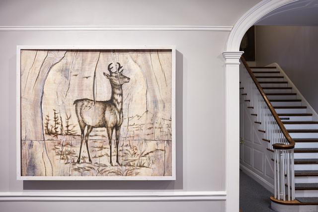 , 'Pronghorn Antelope Engraving Painting,' 2017, Mark Moore Fine Art