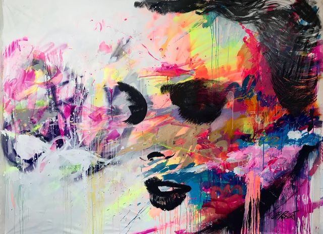 JM Robert, 'Be There ', 2017, Painting, Acrylic, Spraypaint & ink on Canvas, Yang Gallery