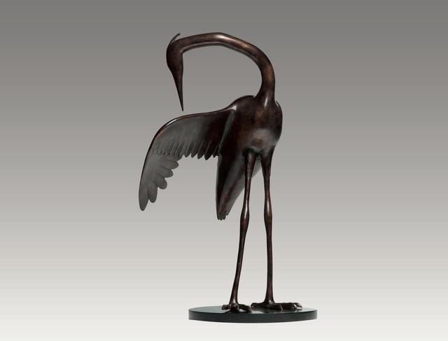 , 'Heron Preening,' , Robert Hooke Sculpture Gallery