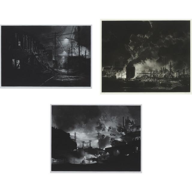 Craig McPherson, 'BRADDOCK; CLAIRTON; EDGAR THOMPSON', 1997, Print, Three mezzotints, Doyle