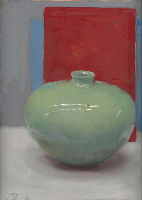 , 'Green Vessel on Red,' 2016, Koplin Del Rio