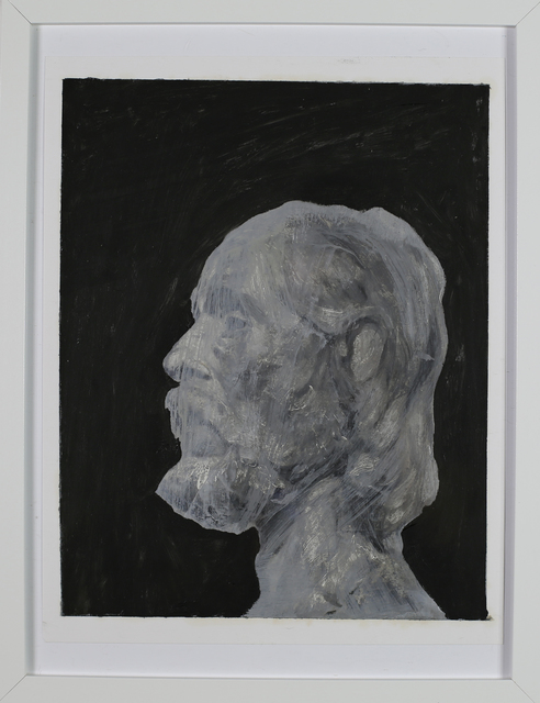 Sid Watters, 'John The Baptist after Rodin', 2020, Painting, Acrylic and Oil on paper, ABV Gallery