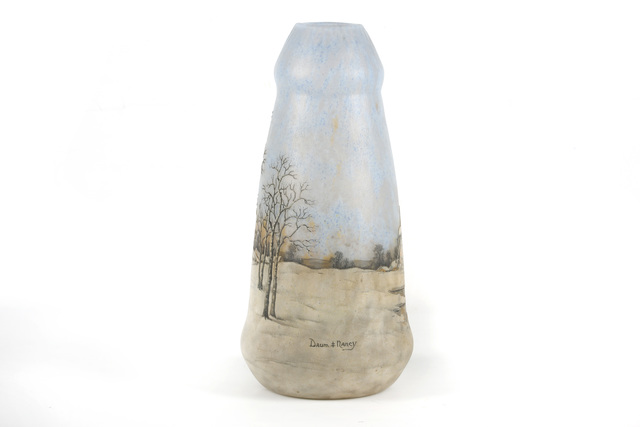DAUM Nancy, 'Windmill Landscape vase', circa 1905, Design/Decorative Art, Acid-etched and enamelled glass, Chiswick Auctions