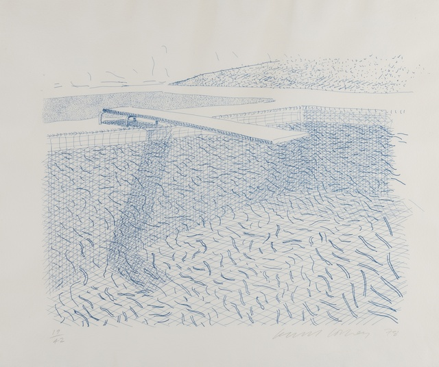 David Hockney, 'Lithographic Water Made of Lines (M.C.A Tokyo 210)', 1978-1980, Forum Auctions