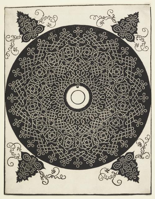 Albrecht Dürer, 'Interlace Pattern with White Medallion', before 1521, Cooper Hewitt, Smithsonian Design Museum