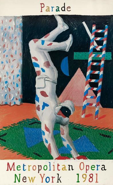 David Hockney, 'PARADE, METROPOLITAN OPERA (BAGGOT 102)', 1981, Doyle