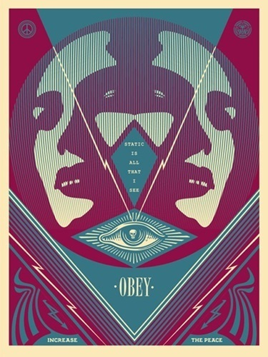 """Shepard Fairey, 'I See Static """"BLUE""""', 2016, New Union Gallery"""