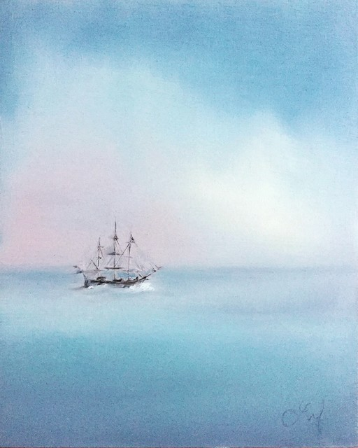 Leigh Ann Van Fossan, 'Quiet Water', 2018, Painting, Oil on wood, Abend Gallery