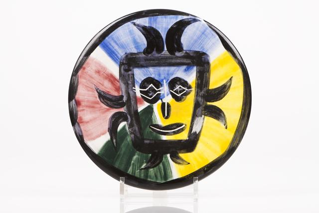 "Pablo Picasso, '""Visage nº 125""', 1963, Painted, engraved and glazed ceramics plate, Veritas"