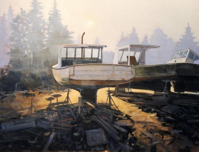 , 'The Boat Yard,' 2017, Peninsula Gallery