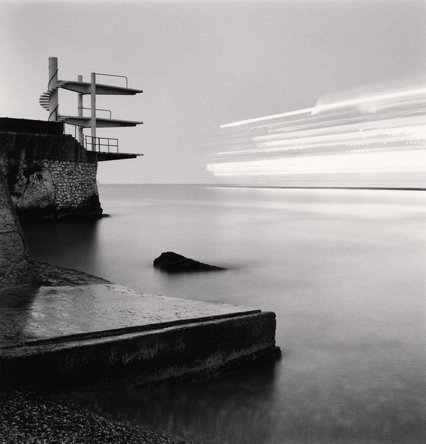 Michael Kenna, 'DIVING BOARDS AND CRUISE SHIP, NICE, ALPES-MARITIMES, FRANCE, 1997', 1997, Huxley-Parlour