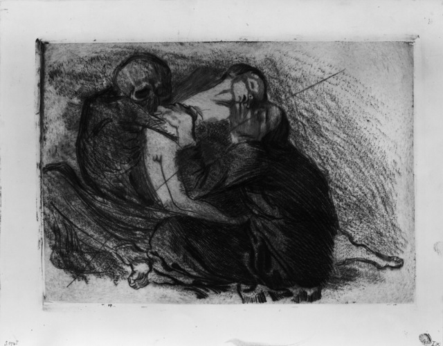 Käthe Kollwitz, 'Death Snatches a Child from its Mother', 1911, Drawing, Collage or other Work on Paper, Art Resource