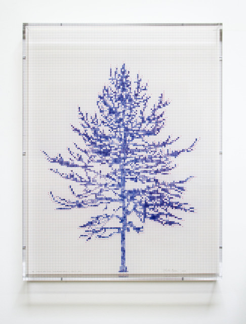 Charles Gaines, 'Numbers and Trees, Tiergarten Series 3: Tree #1, April', 2018, Paulson Fontaine Press