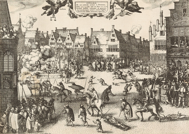 , 'Supplicium de octo coniuratis sumtum in Britannia (....) The execution of the conspirators in the Gunpowder Plot, 30 and 31 January 1606.,' 1606, Emanuel von Baeyer