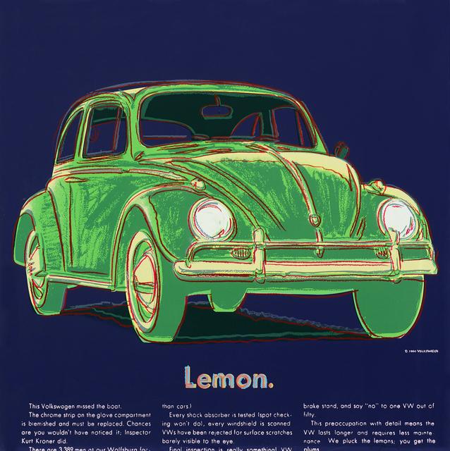 Andy Warhol, 'Volkswagen (FS II.358)', 1985, Print, Screenprint on Lenox Museum Board, Gormleys Fine Art