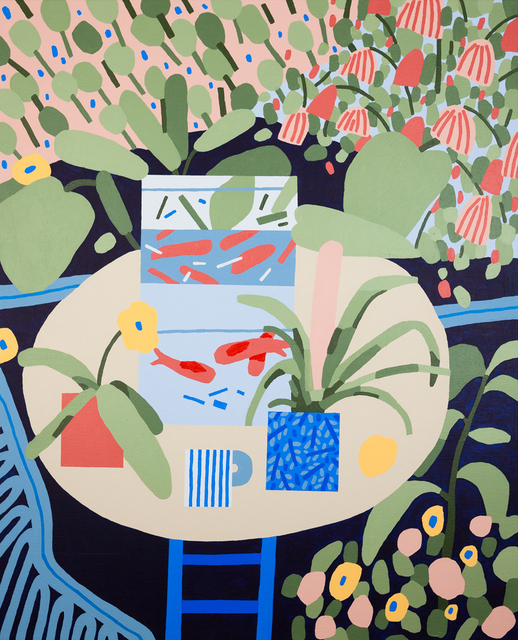 , 'Untitled Plant Painting (I wanted a Matisse, so I painted one),' 2014, Ninasagt