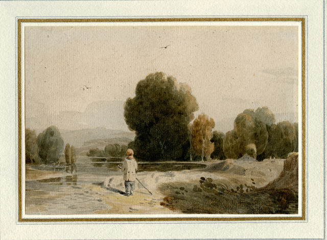 , 'River Landscape with a Boy Standing on the Bank,' 1805-1810, Davis & Langdale Company, Inc.