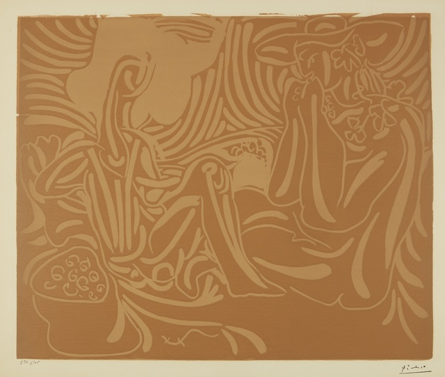 Pablo Picasso, 'Les Vendangeurs (B. 937; Ba. 1241)', 1959, Print, Linoleum cut printed in two colors, Sotheby's