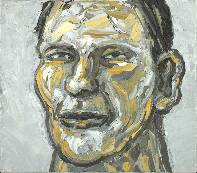 , 'Painting (head, white background),' 2010, Olsen Irwin