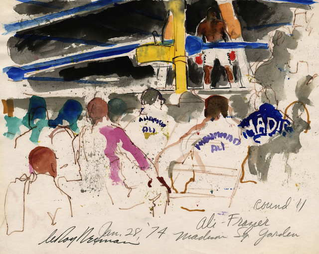 LeRoy Neiman, 'Ali vs Frazier, Round II at Madison Square Garden', 1974, Eric Firestone Gallery