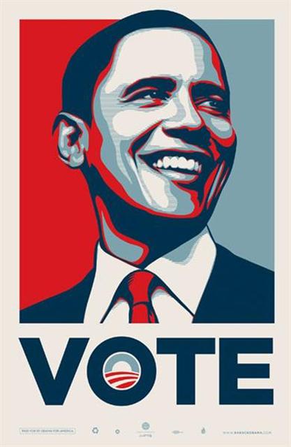 Shepard Fairey (OBEY), 'VOTE Obama', 2008, EHC Fine Art Gallery Auction