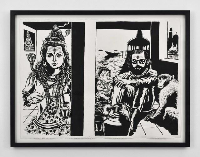 , 'Ginsberg et Shiva,' 2017, Suzanne Tarasieve