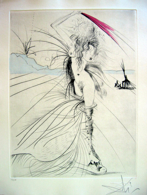 Salvador Dalí, 'Les Aigrettes (The Egrets)', 1969, Print, Drypoint etching with roulette on Arches paper, Puccio Fine Art