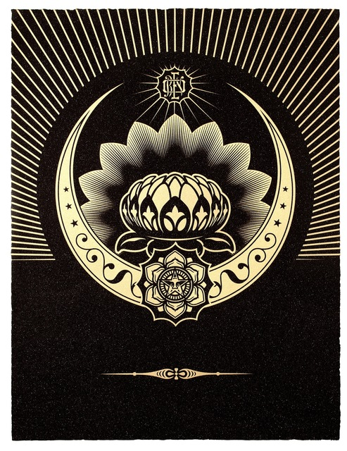 , 'Obey Lotus Crescent (Black & Gold),' 2012, Paul Stolper Gallery