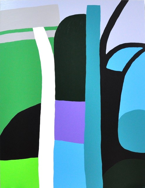 Yvonne Boag, 'Tree With Shadow, Namsan Park', 2014, Painting, Acrylic on canvas, Gallery LVS
