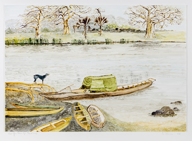 , 'Postcards From Africa: West African Native life and scenes – Dugout Canoes,' 2018, Goodman Gallery