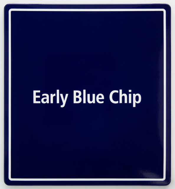 , 'Early Blue Chip 1,' 2016, Steve Turner
