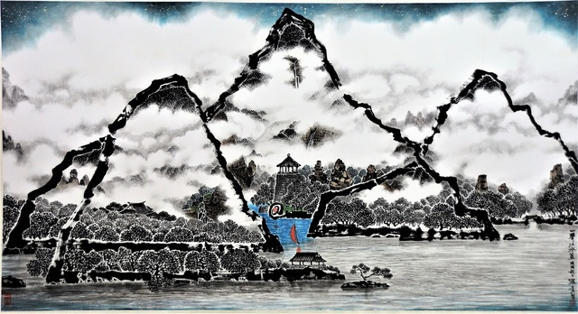 Lo Ch'ing 罗青, 'The Song of the Ancient Boatman', 2018, Michael Goedhuis