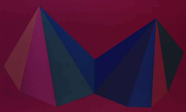 , 'Two Asymmetrical Pyramids: Plate 1,' 1986, Sims Reed Gallery