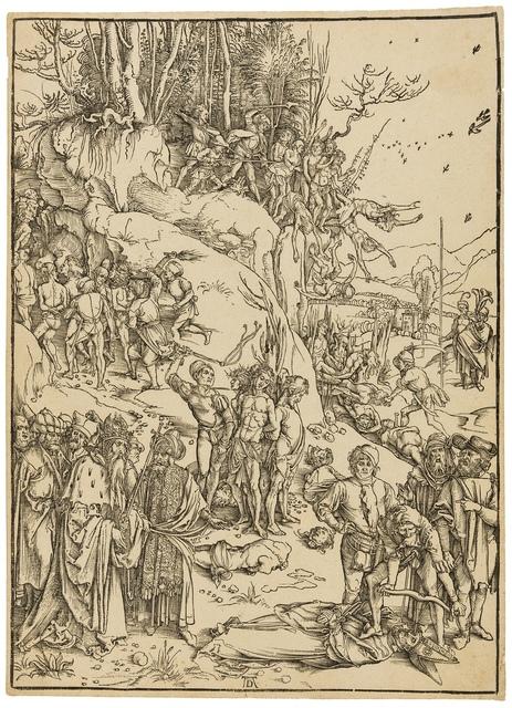 Albrecht Dürer, 'The Martyrdom of the Ten Thousand', circa 1496, Print, Woodcut, Forum Auctions